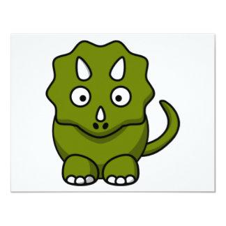 Dinosaurio del dibujo animado invitación 10,8 x 13,9 cm
