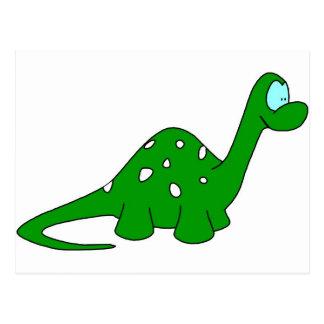 Dinosaurio del dibujo animado postal