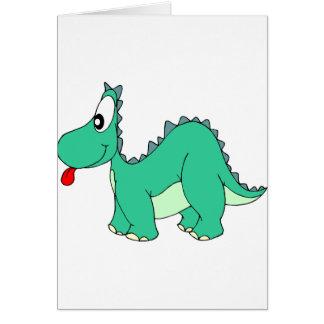 Dinosaurio del dibujo animado tarjeta de felicitación