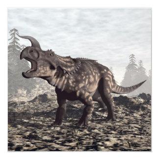Dinosaurio del Einiosaurus - 3D rinden Invitación 13,3 Cm X 13,3cm