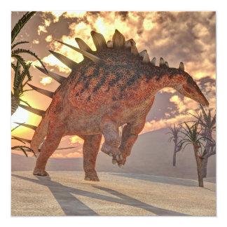 Dinosaurio del Kentrosaurus - 3D rinden Invitación 13,3 Cm X 13,3cm