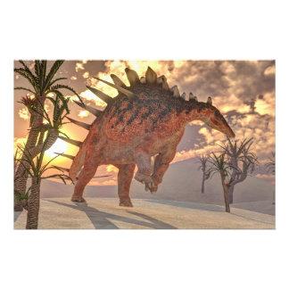 Dinosaurio del Kentrosaurus - 3D rinden Papelería