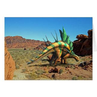 Dinosaurio del Kentrosaurus Tarjetón