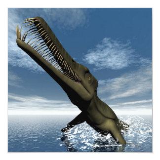 Dinosaurio del Mesosaurus - 3D rinden Invitación 13,3 Cm X 13,3cm
