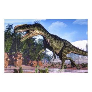 Dinosaurio del Monolophosaurus - 3D rinden Papelería
