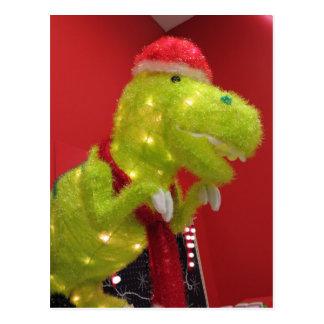 Dinosaurio del navidad postal