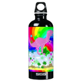 Dinosaurio del pixel de T-Rex Botella De Agua
