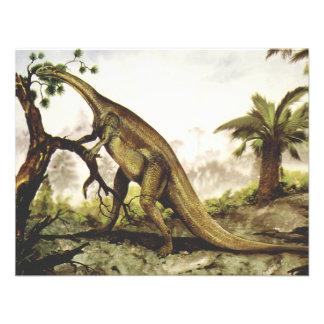 Dinosaurio del Plateosaurus del vintage que pasta Comunicado