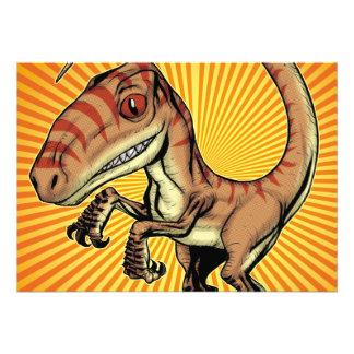 Dinosaurio del rapaz del Velociraptor de Marco D C