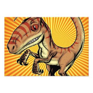 Dinosaurio del rapaz del Velociraptor de Marco D C Anuncios Personalizados