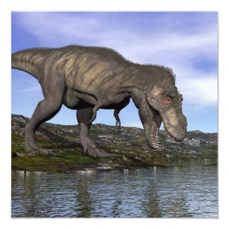 Dinosaurio del rex del Tyrannosaurus - 3D rinden Invitación 13,3 Cm X 13,3cm