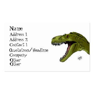 Dinosaurio del rugido T-Rex de Geraldo Borges Tarjetas De Visita