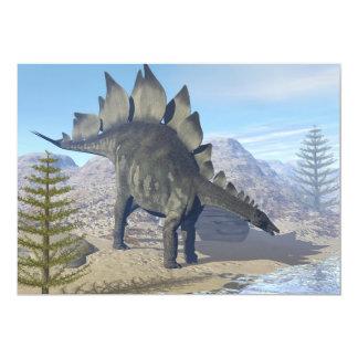 Dinosaurio del Stegosaurus - 3D rinden Invitación 12,7 X 17,8 Cm