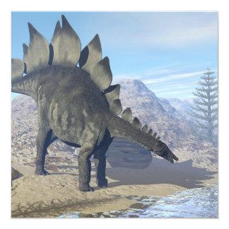 Dinosaurio del Stegosaurus - 3D rinden Invitación 13,3 Cm X 13,3cm