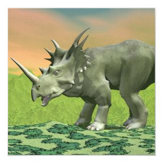 Dinosaurio del Styracosaurus - 3D rinden Invitación 13,3 Cm X 13,3cm