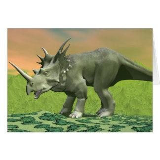 Dinosaurio del Styracosaurus - 3D rinden Tarjeta De Felicitación