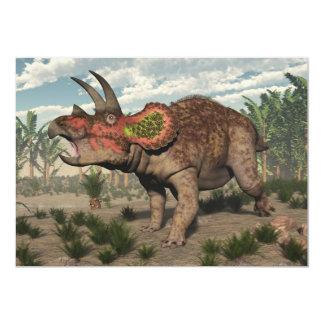 Dinosaurio del Triceratops - 3D rinden Invitación 12,7 X 17,8 Cm