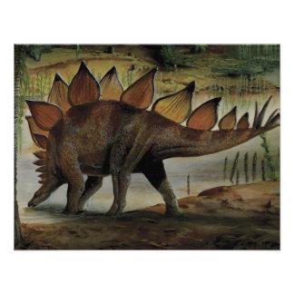 Dinosaurio del vintage Stegosaurus cola con los Comunicado