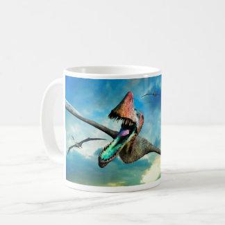 Dinosaurio del vuelo taza de café