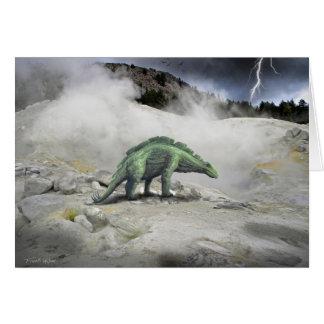 Dinosaurio del Wuerhosaurus Felicitacion