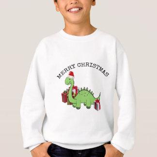 Dinosaurio divertido lindo de Santa del navidad Sudadera