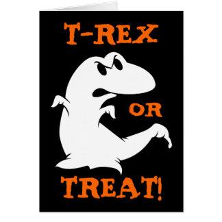 Dinosaurio Halloween Tarjeta De Felicitación