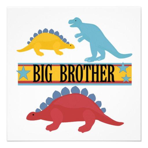 Dinosaurio hermano mayor anuncios personalizados