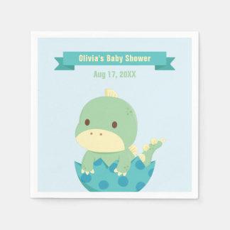 Dinosaurio lindo del bebé alrededor a las fuentes servilleta desechable