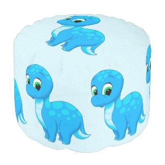 Dinosaurio lindo del bebé azul puf