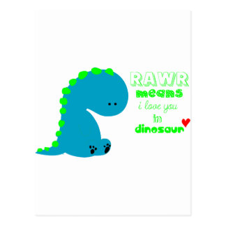 Dinosaurio lindo RAWR Tarjetas Postales