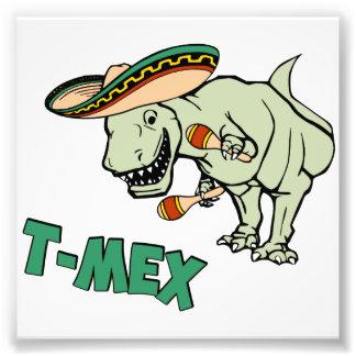 Dinosaurio mexicano del Tyrannosaurus de T-Mex Impresiones Fotograficas