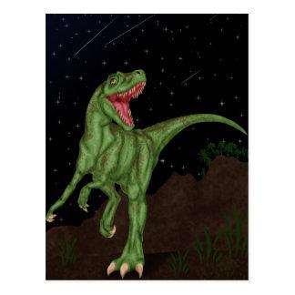 Dinosaurio - noche prehistórica postal