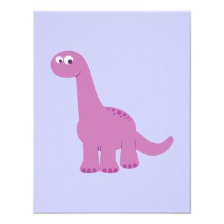 Dinosaurio púrpura del Brontosaurus Invitación Personalizada