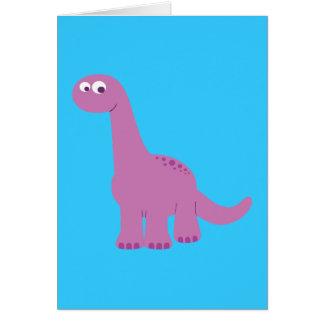 Dinosaurio púrpura del Brontosaurus Tarjeta De Felicitación