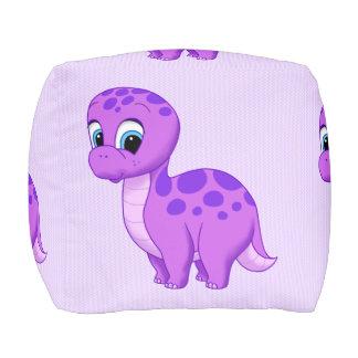 Dinosaurio púrpura lindo del Brontosaurus del bebé