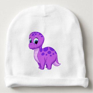 Dinosaurio púrpura lindo del Brontosaurus del bebé Gorrito Para Bebe