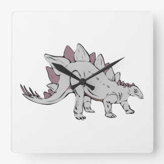 Dinosaurio Reloj Cuadrado