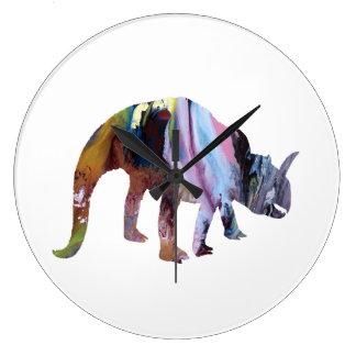 Dinosaurio Reloj Redondo Grande