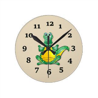 Dinosaurio Reloj Redondo Mediano