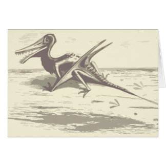 Dinosaurio: Rhamphorhynchus Tarjeta De Felicitación