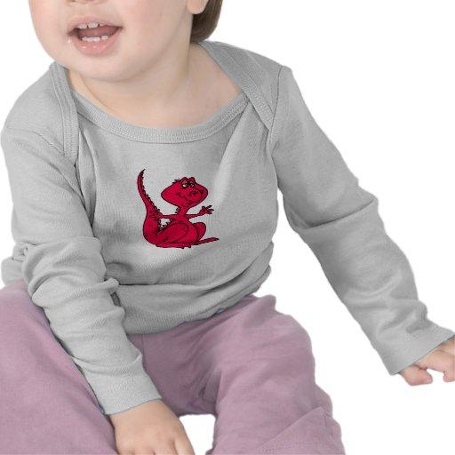 Dinosaurio rosado de Huggy Camisetas