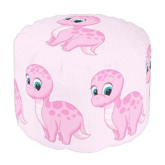 Dinosaurio rosado lindo del Brontosaurus del bebé Puf