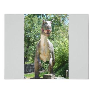 Dinosaurio T-Rex Invitación 10,8 X 13,9 Cm