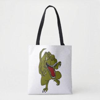 Dinosaurio TRex del dibujo animado Bolsa De Tela