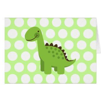 Dinosaurio verde lindo tarjeta de felicitación
