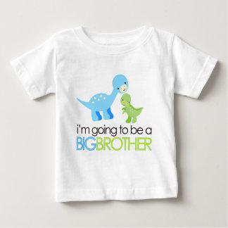 Dinosaurio voy a ser un hermano mayor camiseta de bebé