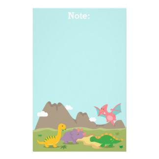 Dinosaurios coloridos lindos para los niños papelería