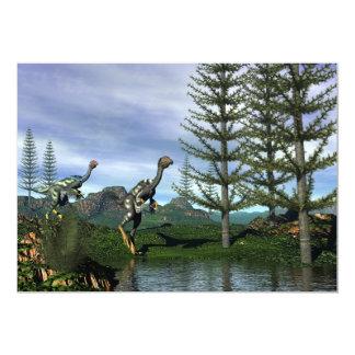 Dinosaurios de Caudipteryx - 3D rinden Invitación 12,7 X 17,8 Cm