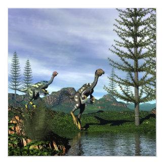 Dinosaurios de Caudipteryx - 3D rinden Invitación 13,3 Cm X 13,3cm