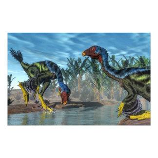 Dinosaurios de Caudipteryx - 3D rinden Papelería